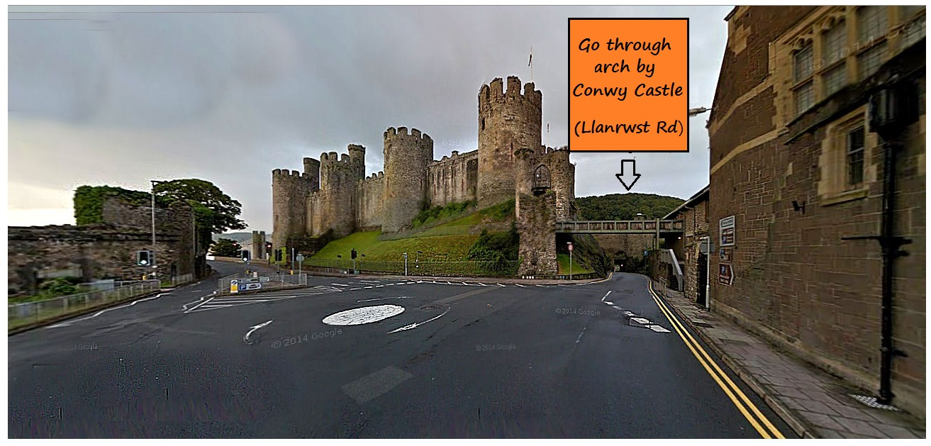 Conwy castle - where to turn