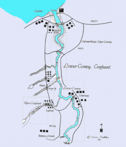 conwy river map