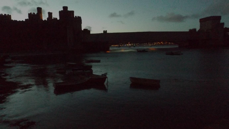dusk castle boats