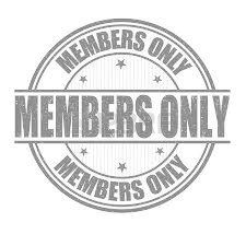 members only badge 2 color faded